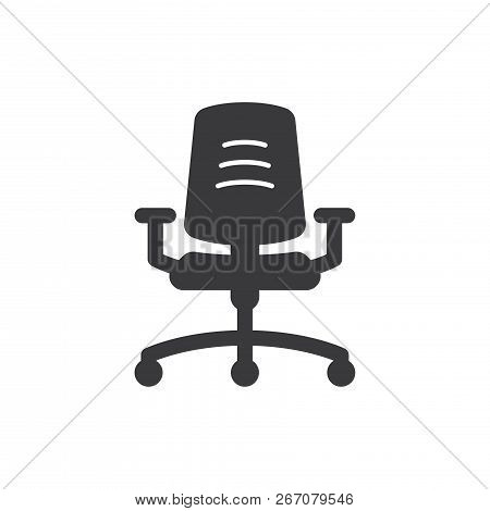 Office Chair Vector Icon On White Background. Office Chair Icon In Modern Design Style. Office Chair