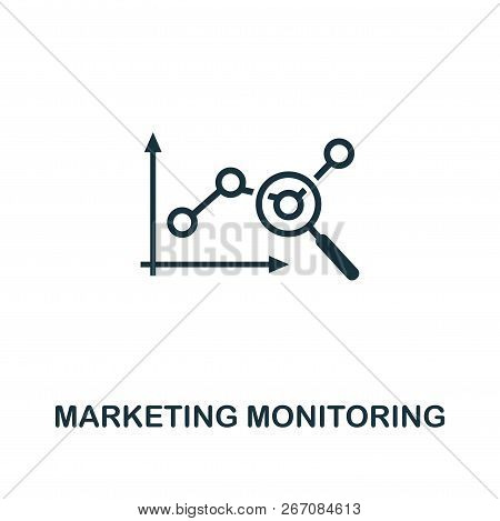 Marketing Monitoring Icon. Premium Style Design From Advertising Icon Collection. Ui And Ux. Pixel P