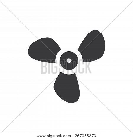 Big Propeller Vector Icon On White Background. Big Propeller Icon In Modern Design Style. Big Propel