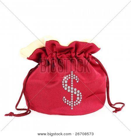 Dollar symbol over a sack