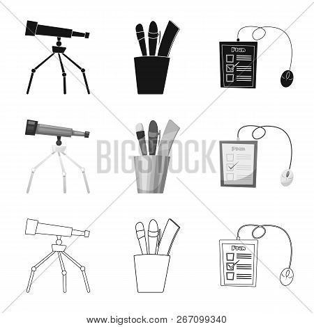 Isolated Object Of Education And Learning Icon. Set Of Education And School Stock Vector Illustratio