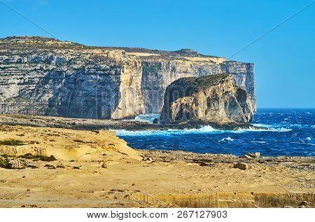 The Coastline Of Gozo, Malta