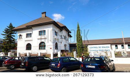 Drobeta Turnu Severin, Romania - 10.08.2018: Dialysis Center Landmark Architecture