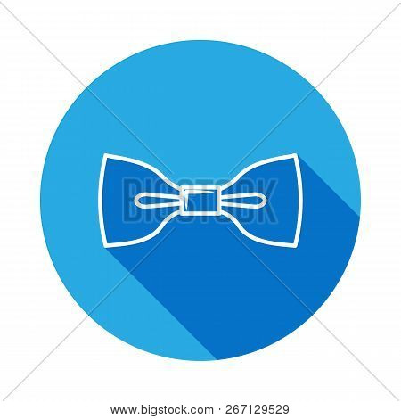 Bow Tie Icon With Long Shadow.for Web, Mobile And Infographics. Hand Drawn Bow Tie Icon With Long Sh