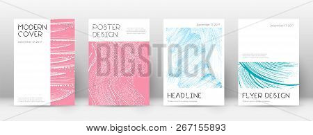 Cover page design template. Minimal brochure layout. Captivating trendy abstract cover page. Pink and blue grunge texture background. Tempting poster. poster