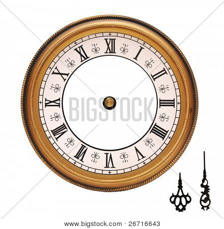 孤立在白色背景上的老式挂钟