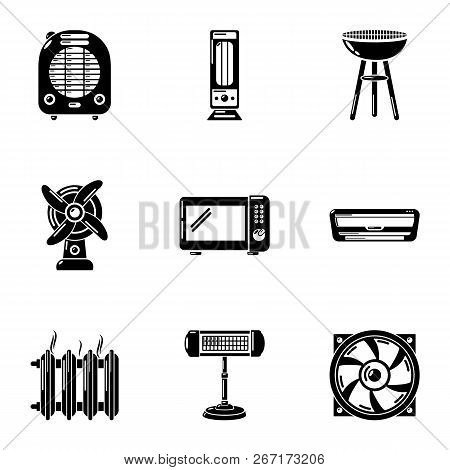 Rear Yard Icons Set. Simple Set Of 9 Rear Yard Vector Icons For Web Isolated On White Background
