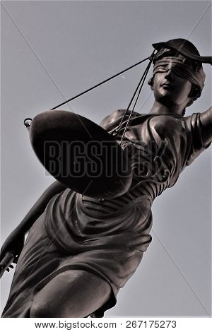 Justitia is the goddess of justice. Justitia is a personification of justice. poster