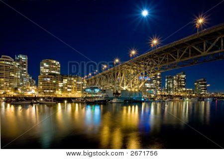 Granville Street Bridge At Night