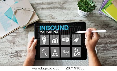 Inbound Marketing. Content Management And Advertising Strategy Concept.