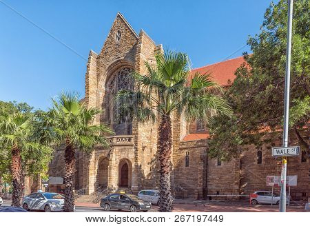 Cape Town, South Africa, August 17, 2018: A View Of Wale Street With The St Georges Cathedral In The