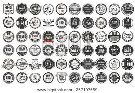 Retro Vintage Badges And Labels Collection 1.eps