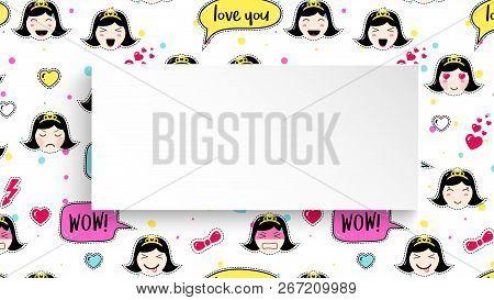 Girl Banner Anime Vector & Photo (Free Trial) | Bigstock