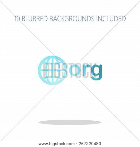 One Of First Domains For Non-profit Organization, Globe And Org. Colorful Logo Concept With Simple S