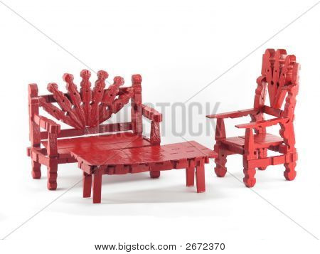 Red Clothespin Furniture