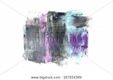 Multicolor Abstract Background, Mixed Tones Of Eye Shadow