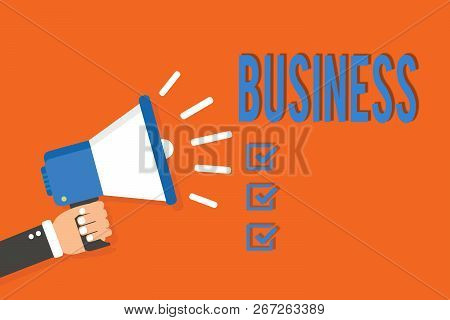 Word Writing Text Business. Business Concept For Occupation Profession Commercial Activity Selling G
