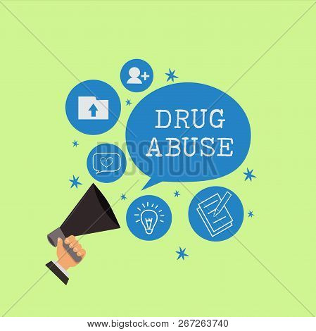 Word Writing Text Drug Abuse. Business Concept For Compulsive Drug Seeking The Habitual Taking Of Il