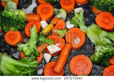 Vegetables On The Pan, Healthy Food, Healthy Lifestyle.