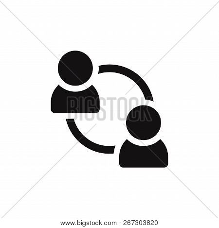 Teamwork Icon Isolated On White Background. Teamwork Icon In Trendy Design Style. Teamwork Vector Ic
