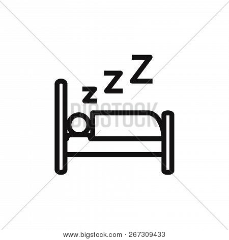 Sleep Icon Isolated On White Background. Sleep Icon In Trendy Design Style. Sleep Vector Icon Modern