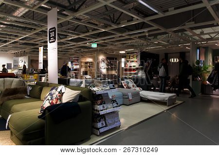 Interior View Of Furniture Room Inside Ikea Store