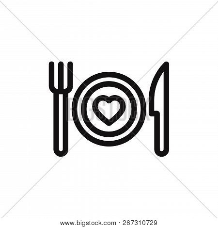 Romantic Dinner Icon Isolated On White Background. Romantic Dinner Icon In Trendy Design Style. Roma
