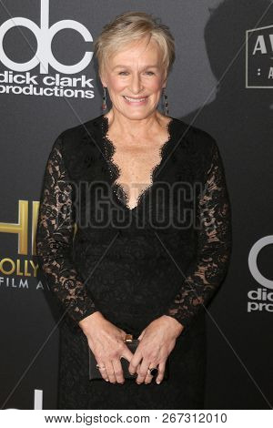 LOS ANGELES - NOV 4:  Glenn Close at the Hollywood Film Awards 2018 at the Beverly Hilton Hotel on November 4, 2018 in Beverly Hills, CA