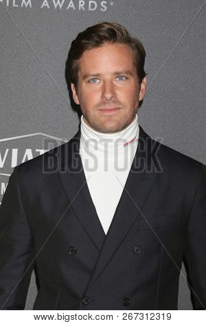 LOS ANGELES - NOV 4:  Armie Hammer at the Hollywood Film Awards 2018 at the Beverly Hilton Hotel on November 4, 2018 in Beverly Hills, CA