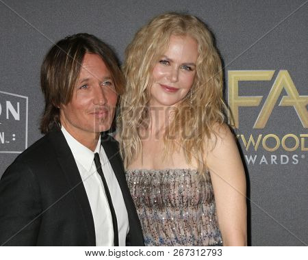 LOS ANGELES - NOV 4:  Keith Urban ,Nicole Kidman at the Hollywood Film Awards 2018 at the Beverly Hilton Hotel on November 4, 2018 in Beverly Hills, CA