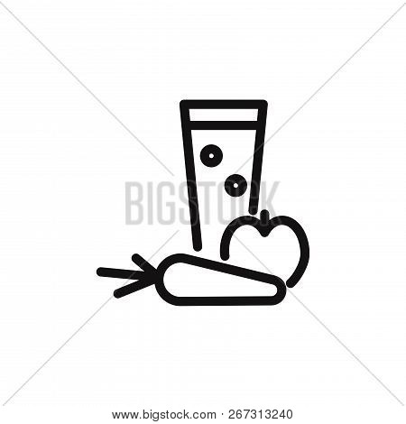 Fresh Juice Icon Isolated On White Background. Fresh Juice Icon In Trendy Design Style. Fresh Juice