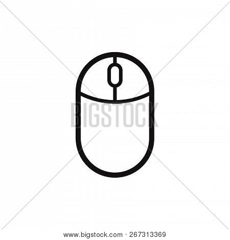 Computer Mouse Icon Isolated On White Background. Computer Mouse Icon In Trendy Design Style. Comput
