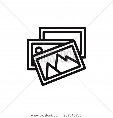 Photo Gallery Icon Isolated On White Background. Photo Gallery Icon In Trendy Design Style. Photo Ga