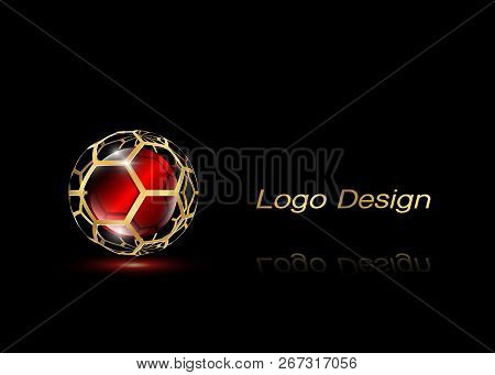 3d Gold Logo Design , This Logo Is Suitable For Global Company, World Technologies, Media And Public