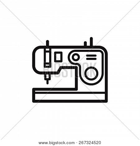 Sewing Machine Icon Isolated On White Background. Sewing Machine Icon In Trendy Design Style. Sewing