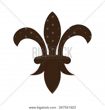 Mardi Gras Symbol. Fleur De Lys. Vector Illustration Design