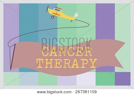 Word Writing Text Cancer Therapy. Business Concept For Treatment Of Cancer In A Patient With Surgery