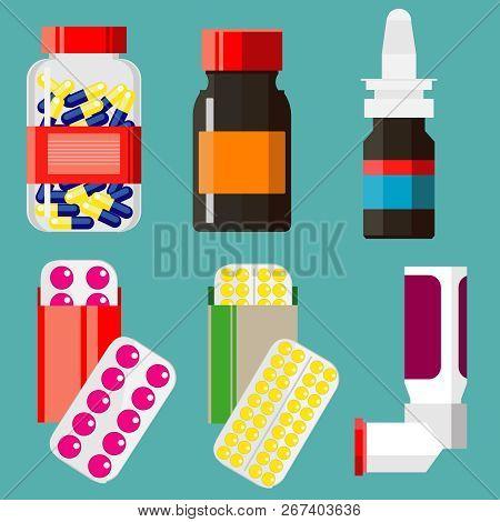 Vector Set Medicines Vector & Photo (Free Trial) | Bigstock