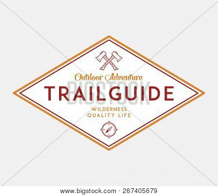 Outdoor Scouting Trail Guide Is A Vector Illustration About Wilderness Exploration