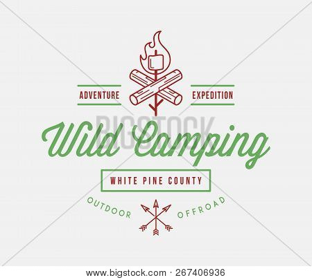 Outdoor Wild Camping White Pine County Is A Vector Illustration About Wilderness Exploration