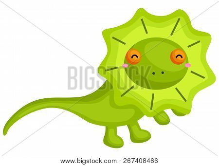 A Vector Of A Cute Frill Next Lizard