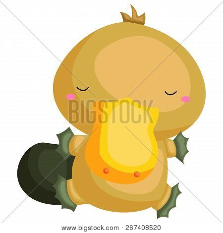 A Vector Of A Cute And Adorable Platypus