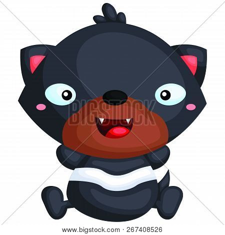 A Vector Of A Cute Tasmanian Devil