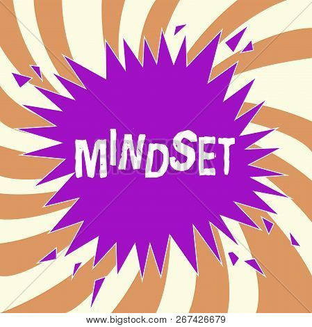 Handwriting Text Mindset. Concept Meaning Established Set Of Attitudes Held By Someone Positive Atti