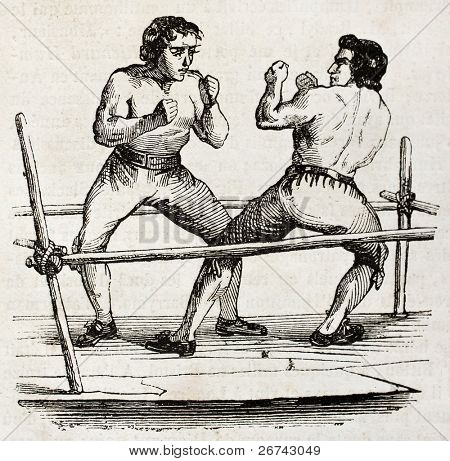 Boxing in 1790. By unidentified author, published on Magasin Pittoresque, Paris, 1840