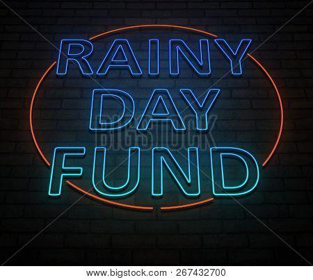 Rainy Day Fund Concept.
