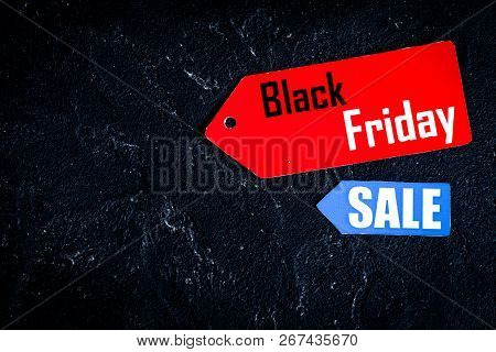 Concept Black Friday On Dark Background Top View