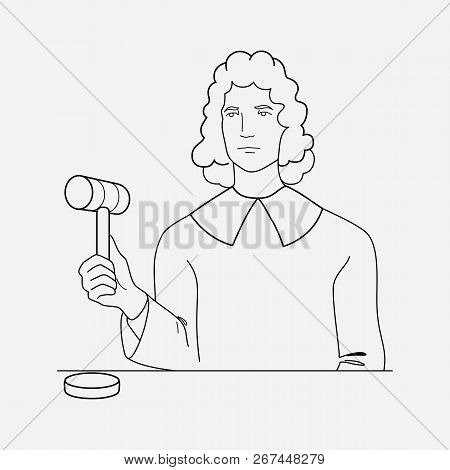 Judge Icon Line Element. Vector Illustration Of Judge Icon Line Isolated On Clean Background For You