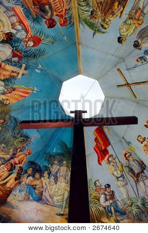 Magellans Cross Cebu Philippines said to have miraculous powers after Queen Juana was baptised here poster