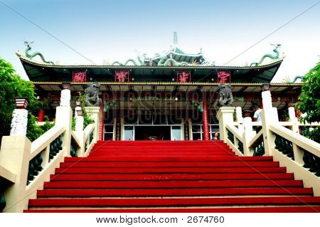 The Taoist Buddhist Temple Entrance Cebu